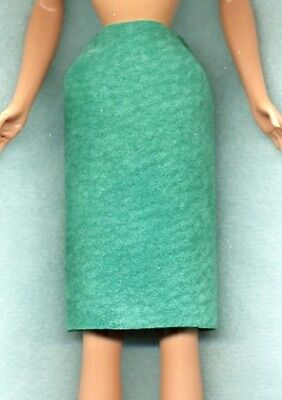 PURPLE KNEE LENGTH SKIRT GENUINE SUEDE LEATHER BARBIE DOLL CLOTHES