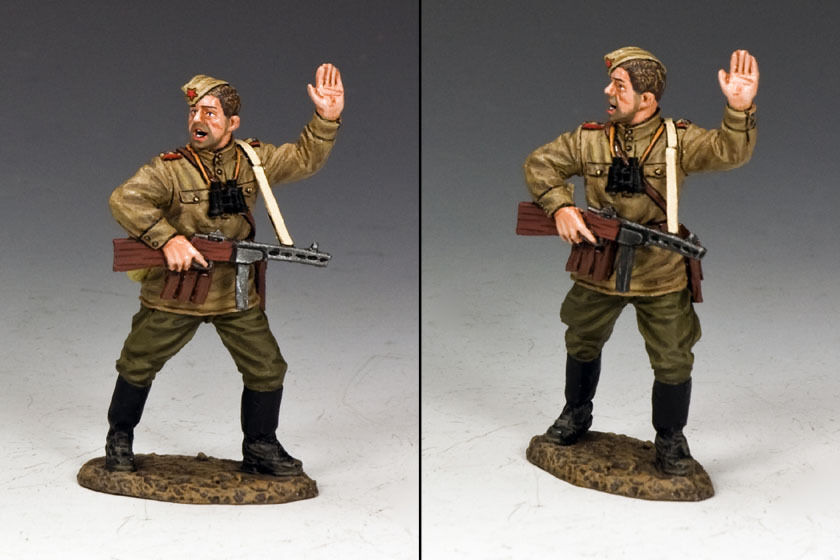 KING AND COUNTRY Red Army Platoon Leader WW2 RA50 RA050