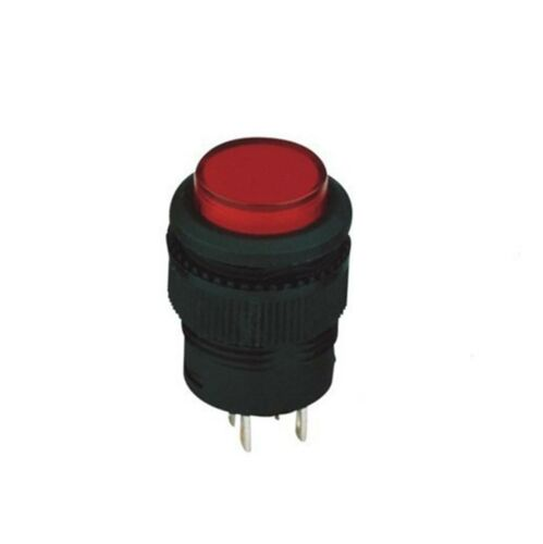10pcs 6mm Momentary N//O Red 2 Pin SPST 1A 250VAC 1 PushButton Switch With Light
