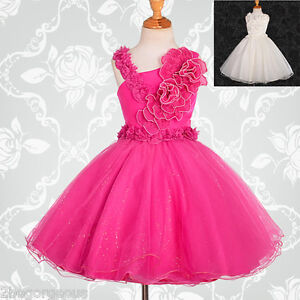 Details about Pearls Flower Girl Dresses