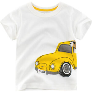 cd02ef8cc4 Details about Summer New Baby kids Children's Clothing Boys short-sleeved  T-shirt Car Size2-7