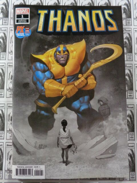 Thanos (2019) Marvel - #1, 2019 C2E2 Ariel Olivetti Sketch Variant, NM