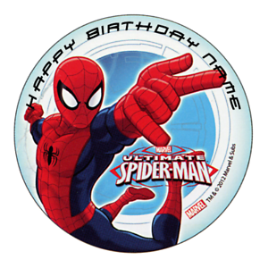 Spiderman Personalised Edible Birthday Party Cake