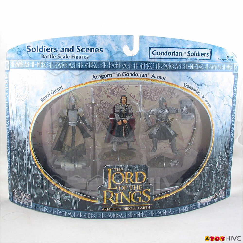 Lord of the Rings Armies of Middle Earth LOTR insonorisées Gondorian soldats lot de 3