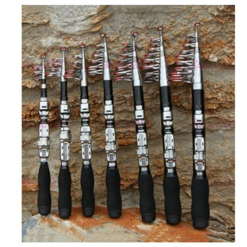Carbon Fiber Telescopic Pocket Fishing Rod Travel Spinning Pole Mini Travel Hot