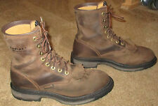 """Mens ARIAT ATS Workhog 8"""" H2O Brown Leather Work Boots sz 10.5 D"""