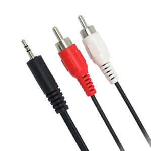 1-2m-3-9-Feet-3-5mm-Plug-Jack-to-2RCA-Male-Audio-Cable-Splitter-Phone-to-SpeakBB