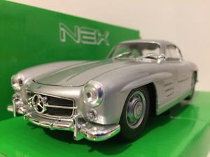 Mercedes-Benz-300-Sl-Argent-1-24-Echelle-Welly-24064S-Neuf