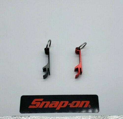 NEW !!!!!! 2 Snap on tools BLACK RED bottle opener keychains SNAP ON LOGO