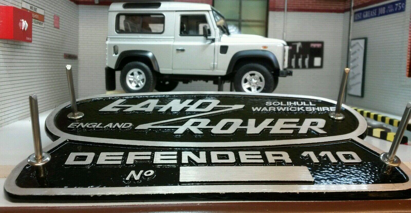 Heritage Ltd Ltd Ltd Edition Aluminiumguss Gitter Original Dose Emblem Land Rover edc416