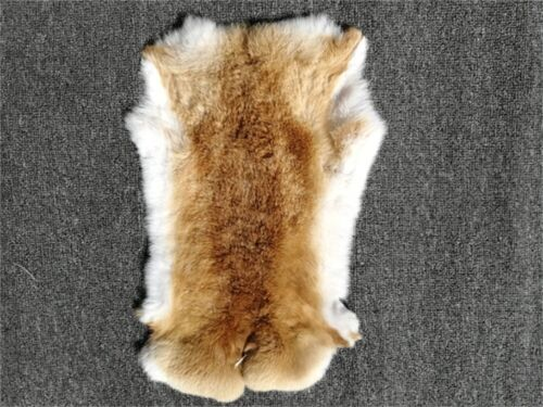 """Lot de 50 Rabbit Pelts Hide Fourrure pour Crafts decretive couleurs naturelles 10/"""" 16/"""""""