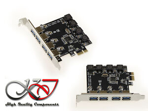 Controller-Karte-usb-3-0-am-Hafen-PCI-E-high-Schalltknopf-8A-PCIe-1x