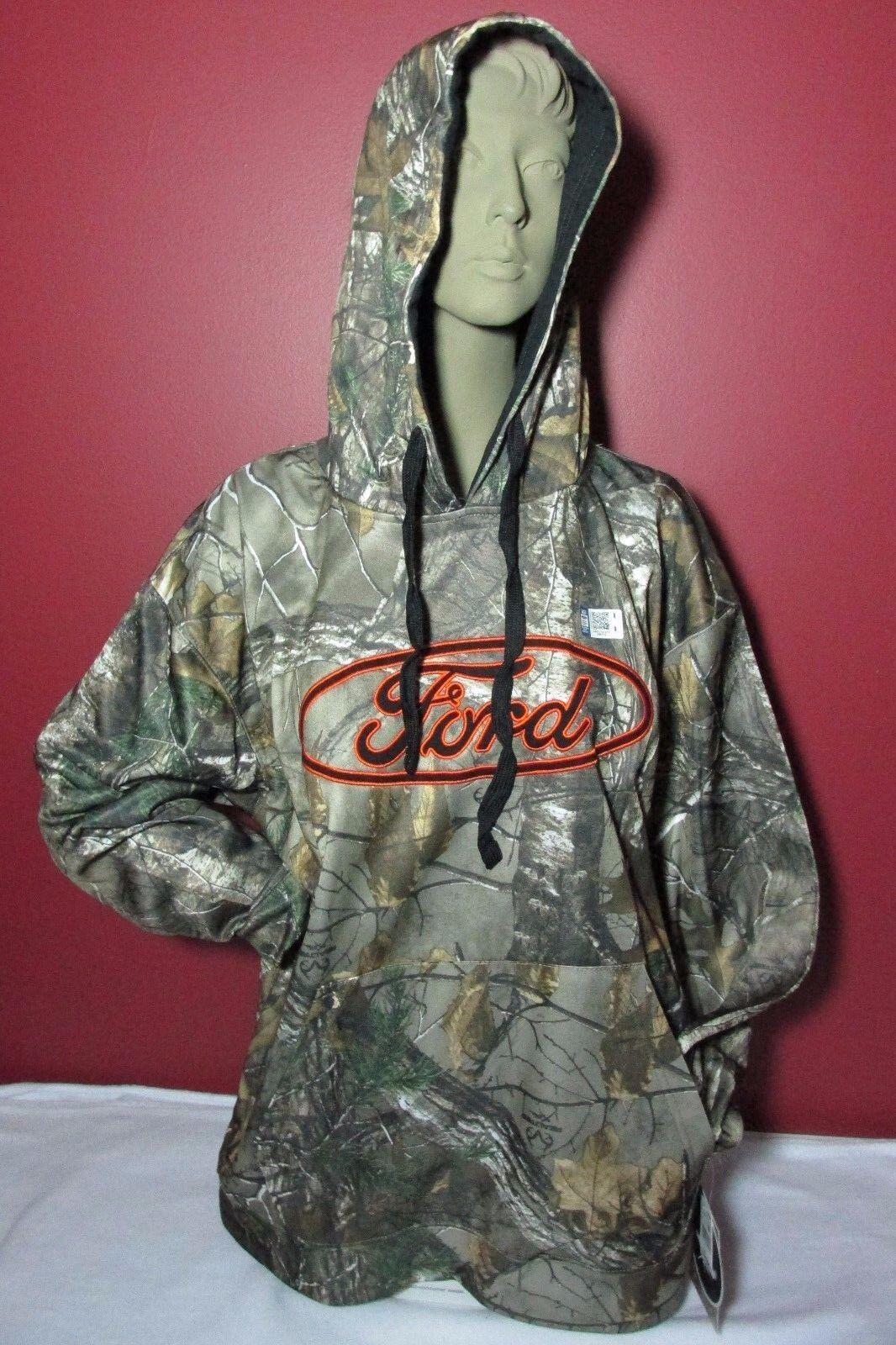 NEW Camouflage FORD Hoodie Men's Size Medium Realtree Hooded Sweatshirt
