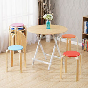 Wondrous Details About Multi Purpose Stackable Step Stool Round Seat Chair Stacking Bar Stools Uk Theyellowbook Wood Chair Design Ideas Theyellowbookinfo