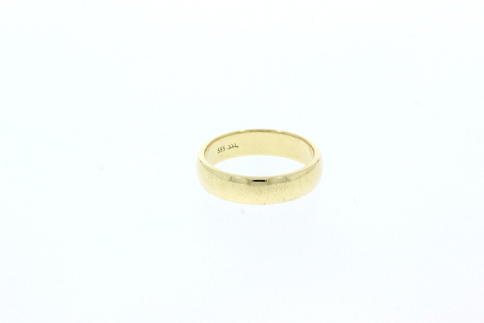 A0104-585er yellowgold Ehering Ringgroße 59 Breit 5,2 mm Gewicht 6,5 Gramm