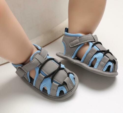Newborn Baby Boy Crib Shoes Child First Shoes Infant Summer Sandals Size 1 2 3