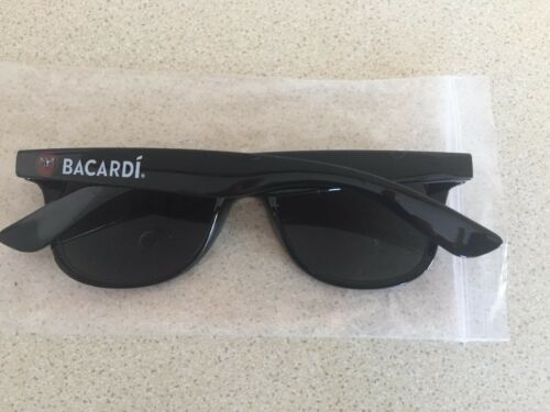 BACARDI RUM PAIR OF BLACK SUNGLASSES SHADES BRAND NEW MANCAVE BAR PUB SUMMER