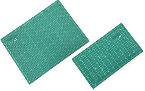Cutting Mat A3 or A4 Size Self-Healing Coated Non-Slip Surface /& Alignment Grid
