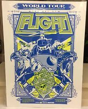 "Red Bull Art of Flight Print Poster Hand Screened Red Bull 30"" x 22"" Blue Rice"