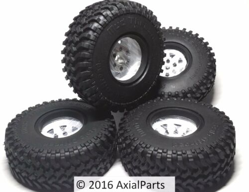 (4) RC4WD 1.55 Mud Thrashers Scale Tires Steel Beadlock Wheels Trail Finder TF2