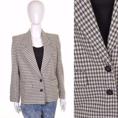 Coscienzioso Vintage Cream Checked Tweed Giacca 10 12 Patrimonio Equitazione Hacking Blazer Classico-mostra Il Titolo Originale Tecniche Moderne