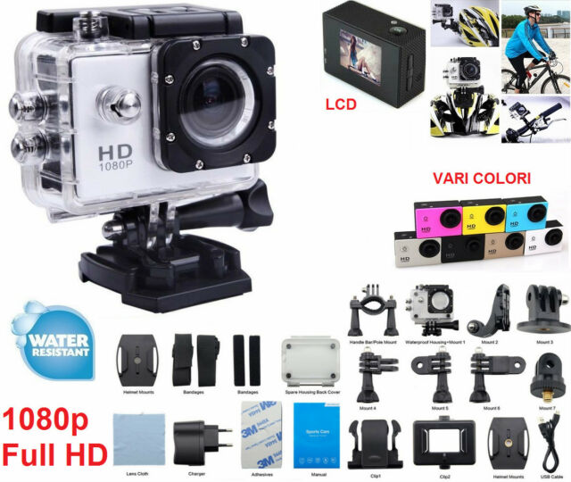 Videocamera HD sport telecamera cam go.Softair,elmetto,m4,ak,m16,hk,asg,soft air