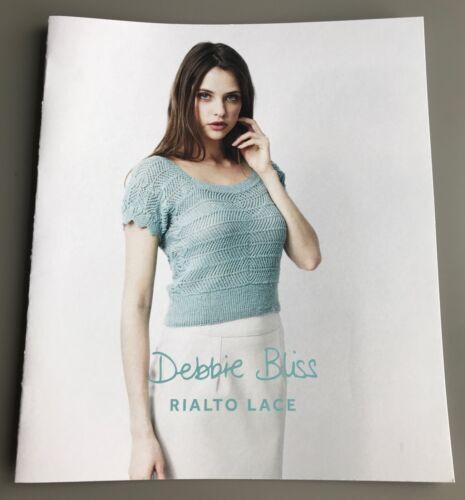 DB007 Rialto Lace Debbie Bliss Knitting Pattern Sideways Knitted Sweater