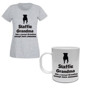 Gift Bull T Staffordshire tazza e Grandma Funny Staffie Terrier shirt wzrqzCxI