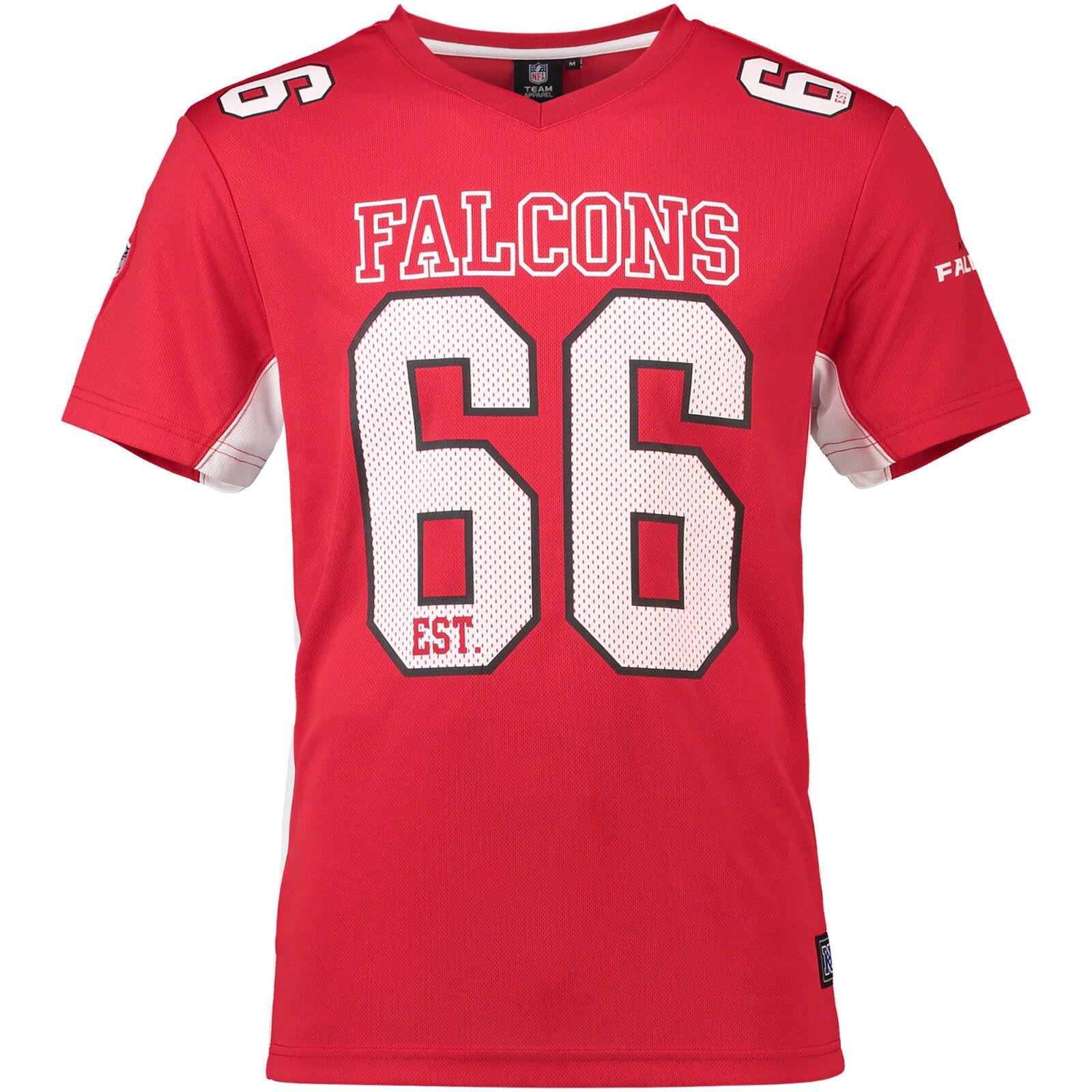 NFL Atlanta Falcons 66 MAGLIA JERSEY SHIRT Moro 2018 mesh poligonale FOOTBALL ROSSO