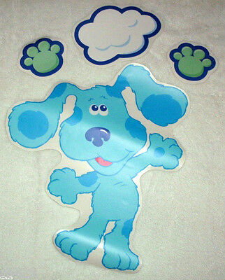 "4/"" Blues clues nick jr running peel /& stick wall border cut out character"