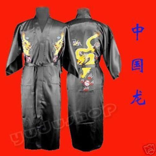 Kimono Mantel mit Drachen-Stickereien Unsix