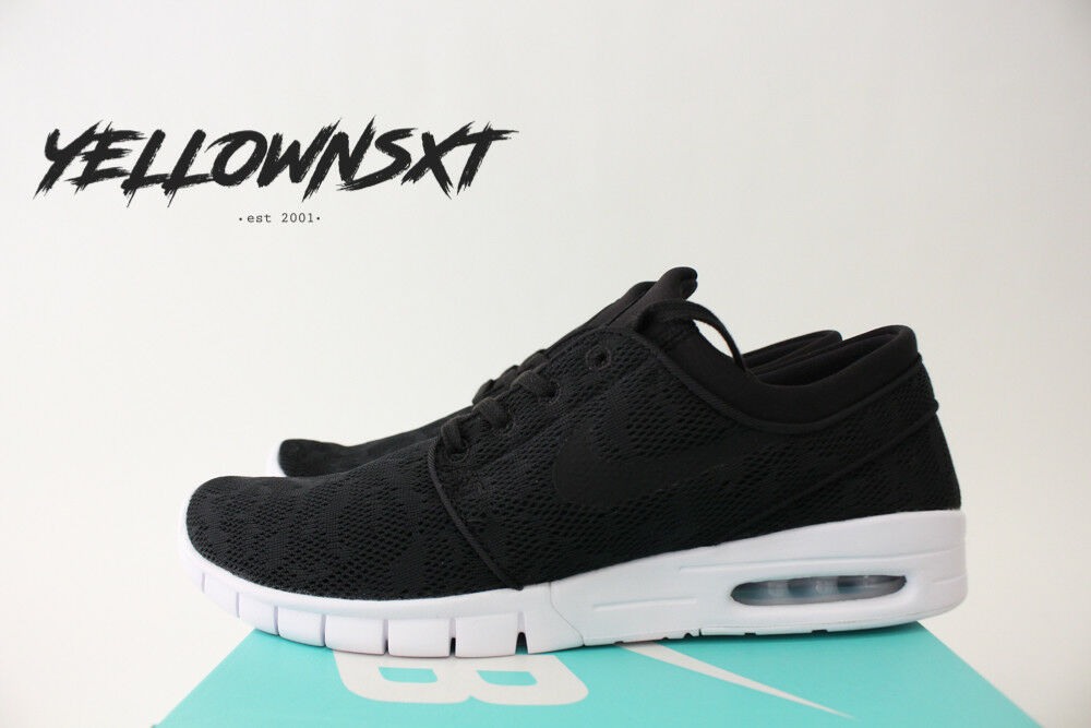 NIKE SB ZOOM STEFAN JANOSKI MAX SZ 8.5 BLACK WHITE SKATE SHOES 631303 022