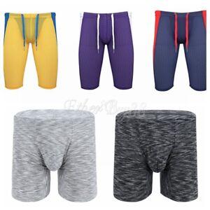 Para-Hombre-Compresion-Boxer-Shorts-Stretch-Calzas-Pantalones-deportivos-Gimnasio-Correr-Atleticos