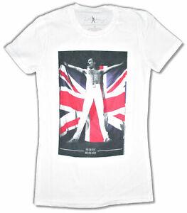 d40562d72b1 Image is loading Freddie-Mercury-Flag-Juniors-White-T-Shirt-New-