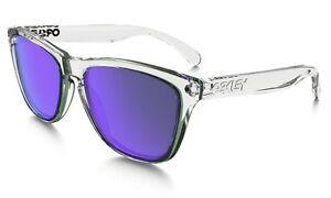 db9b7fa626c Oakley Sunglasses Frogskins Oo9013 24-305 Clear Polished Violet Iridium