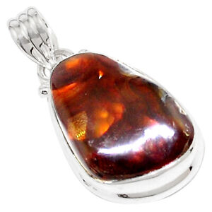16-85cts-Natural-Multi-Color-Mexican-Fire-Agate-925-Silver-Pendant-P76427