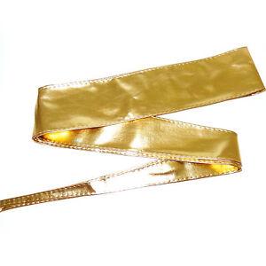 selezione premium a81af cec86 Dettagli su Cintura oro FUSCIACCA Donna FASCIA LARGA CINTURONE cinta dorato  art. D0285