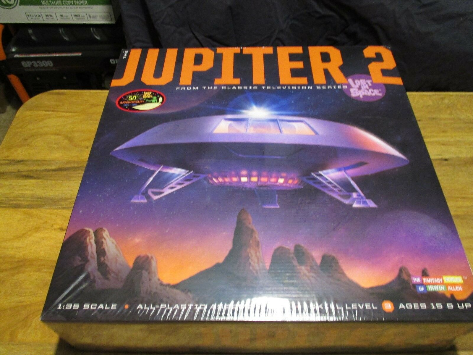 Lost In Space Jupiter 2 50th Anniversary Model Kit By  Moebius sealed box
