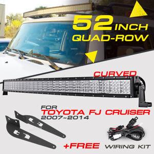 Curved-52-034-3600W-Quad-Row-CREE-LED-Light-Bar-Mount-Bracket-For-Toyota-FJ-Cruiser