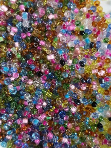 11//0 BOLD OPAQUE METALLIC PACK OF 2MM SEED BEADS TRANSPARENT ALL COLOURS