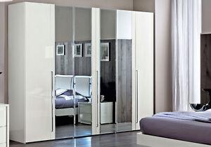 Kleiderschrank Schlafzimmer Schrank Weiss Spiegelturen Moderne