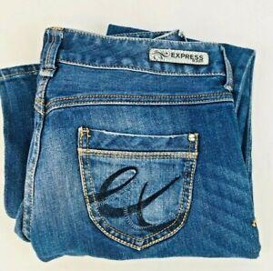 Express-Women-039-s-Stella-Boot-Cut-Fit-Low-Rise-Blue-Denim-Jeans-Sz-0s