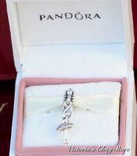 Authentic Pandora 925 #791365cz Ballerina Dancing dangle Slide Bead Charm