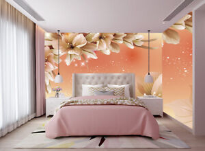 Details About 3d Large Flowers Landscape World Self Adhesive Living Room Wall Murals Wallpaper