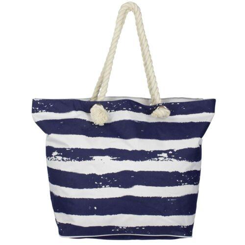 Strandtasche dunkelblau weiss Antonio Beach bag