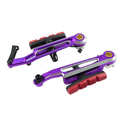 Estrellado 100mm  Ajustable V Freno Mtb Bicicleta Plegable 406 a 451 18  a 20  - Púrpura  Envío rápido y el mejor servicio