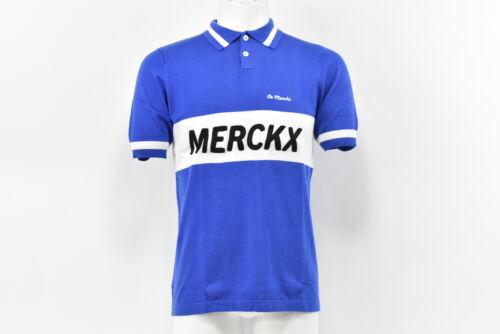 Blue//Whte L Brand New De Marchi Eddy Merckx 1977 Copenhagen Men/'s Cotton Polo