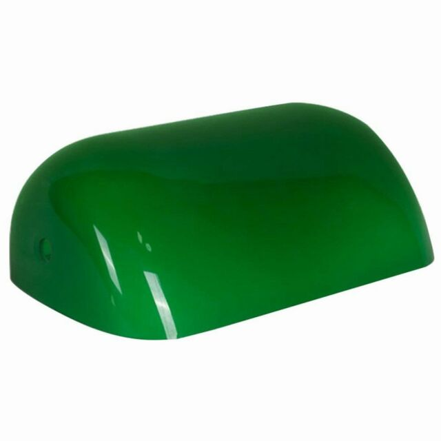 Newrays Green Glass Bankers Lamp Shade Cover Replacement L8 85 W5 3