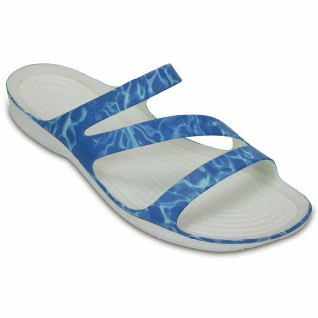 fa85cb50223d Women s Crocs Swiftwater Graphic Sandal W Sandals in Blue UK 5   EU ...