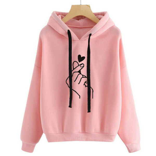Women's Hoodie Sweatshirt Hooded Sweater Coat Pullover Long Sleeve Jumper Tops